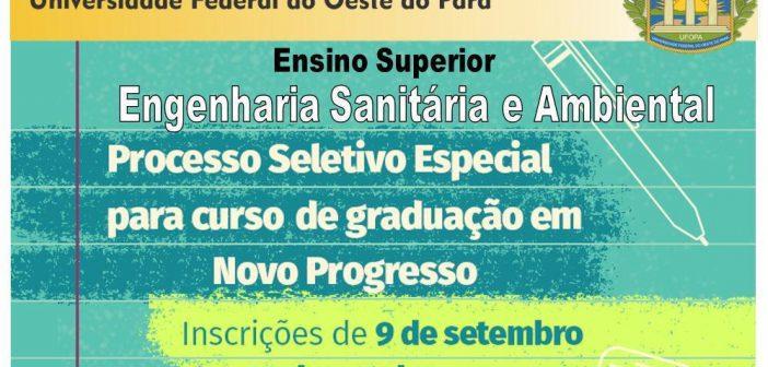 Curso de graduação em Novo Progresso pela Universidade Federal do Oeste do Pará (UFOPA)