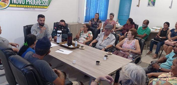 Reunião Sobre Segurança Pública é Realizada com a Presença da PM na Prefeitura